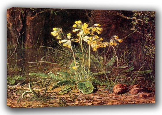 Millet, Jean-Francois: Primroses.  Fine Art Canvas. Sizes: A3/A2/A1 (00710)